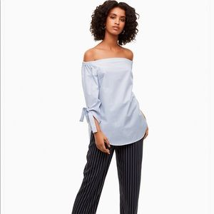 Aritzia Babaton malik blouse harbour stripes
